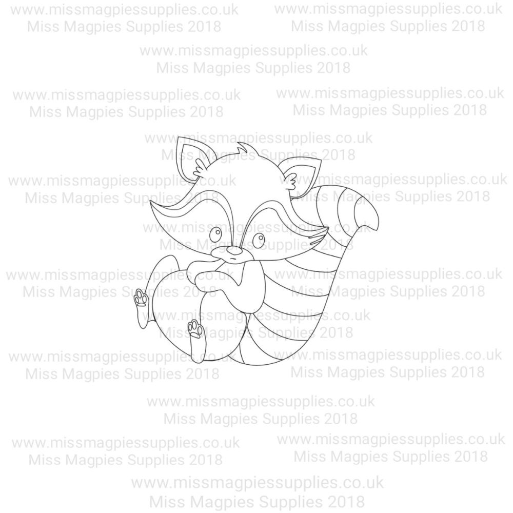 MMS DESIGN STAMP - RACCOON- PLEASE SELECT SIZE