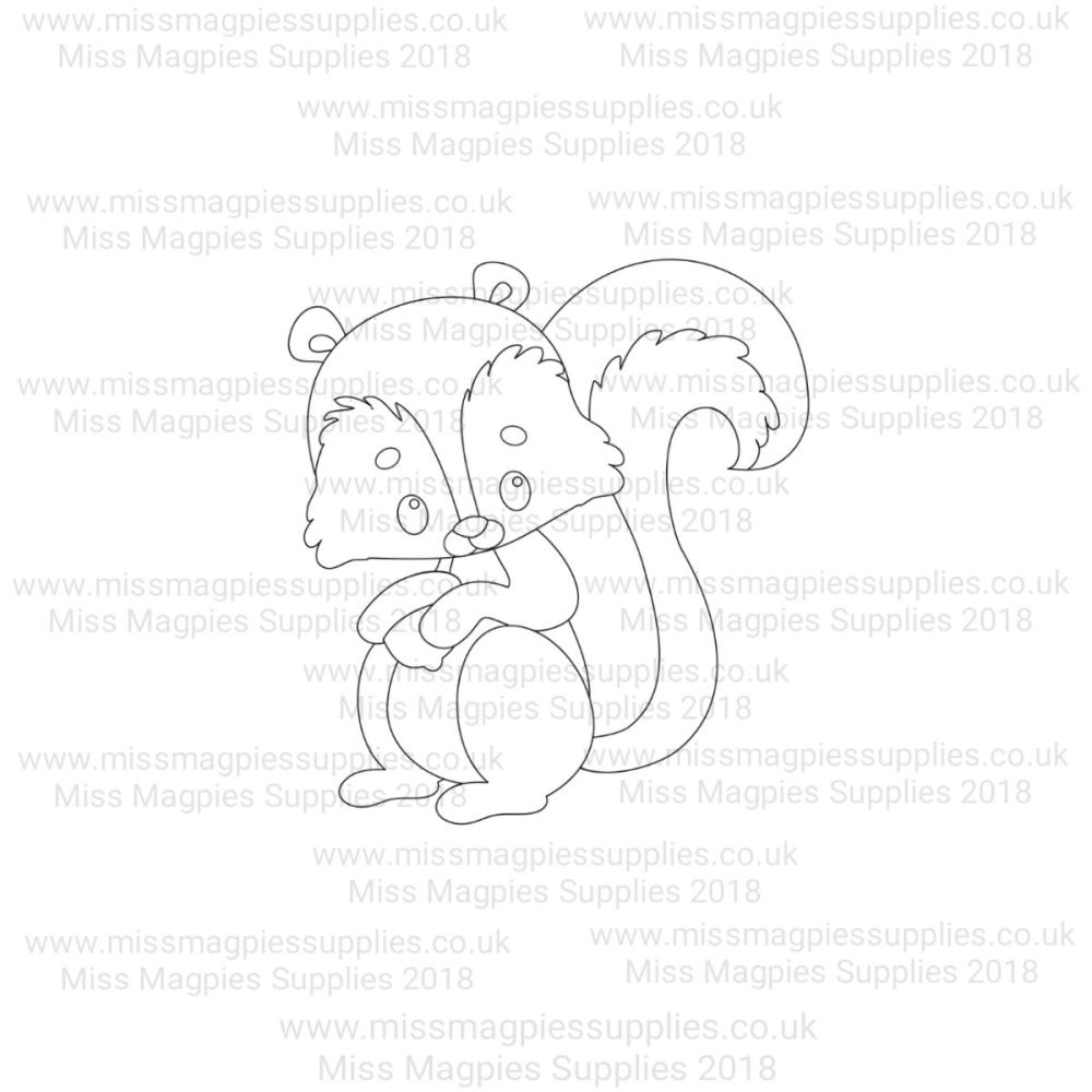 MMS DESIGN STAMP - SQUIRREL - PLEASE SELECT SIZE