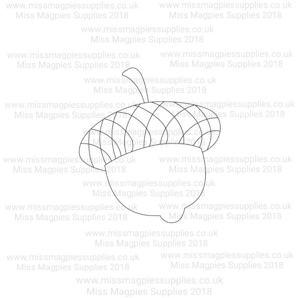 MMS DESIGN STAMP - ACORN - PLEASE SELECT SIZE
