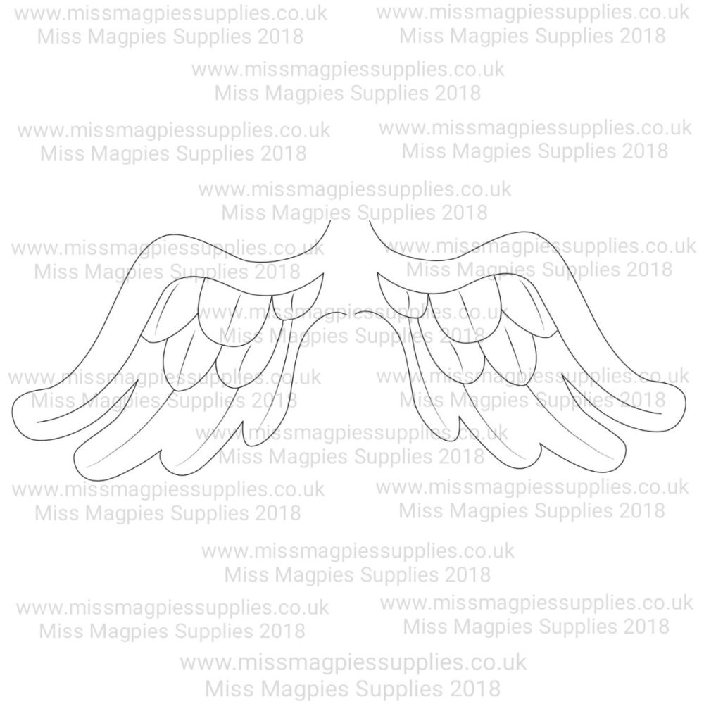 MMS DESIGN STAMP - WING SET (2 PIECE) - PLEASE SELECT SIZE