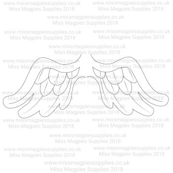 DS126/127 - MMS DESIGN STAMP - WING SET (2 PIECE) - PLEASE SELECT SIZE
