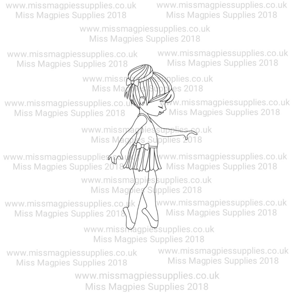 MMS DESIGN STAMP - BALLERINA GIRL (TYPE 1) - PLEASE SELECT SIZE