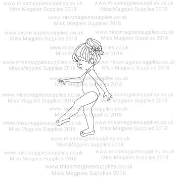 DS076 - MMS DESIGN STAMP - BALLERINA GIRL (TYPE 2) - PLEASE SELECT SIZE