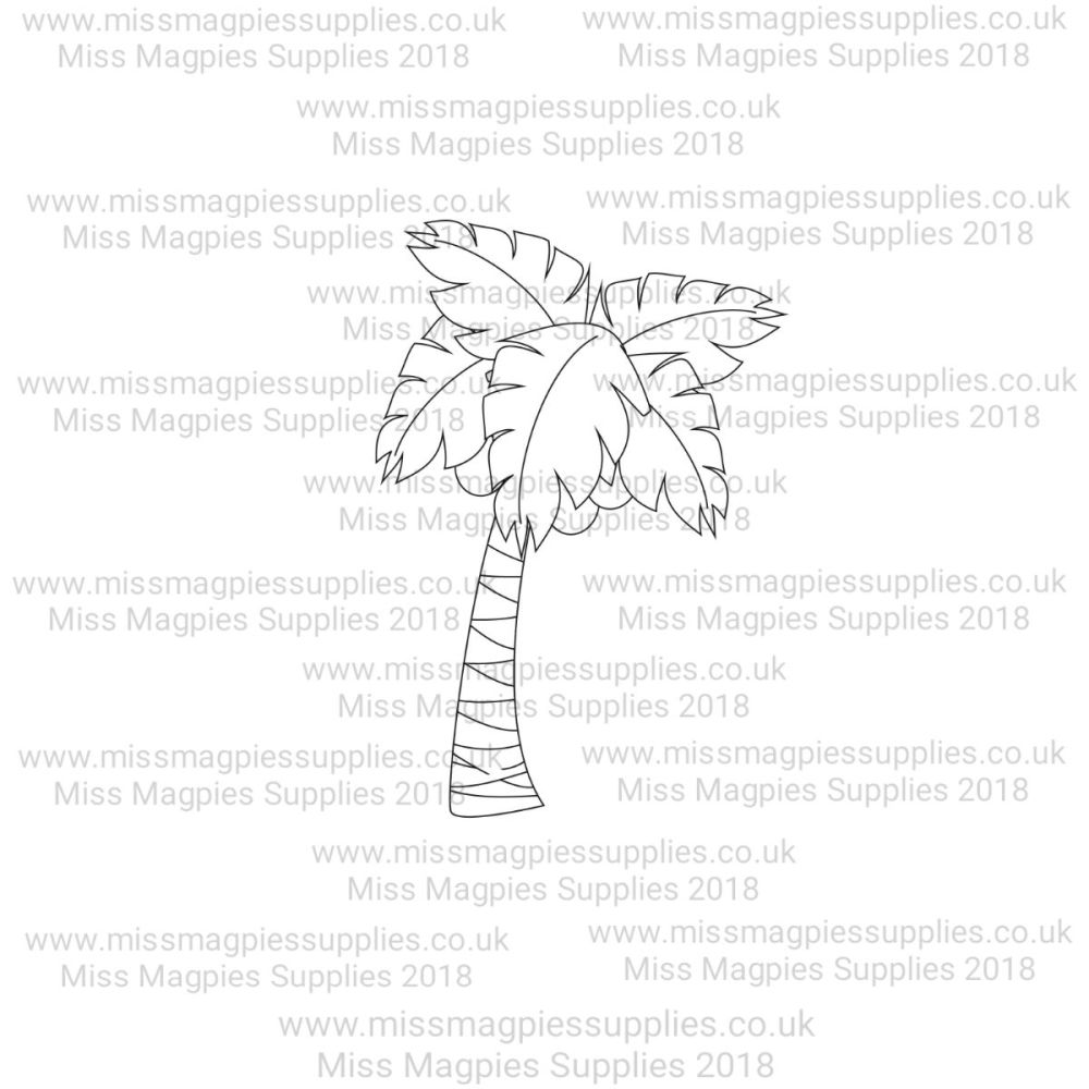 MMS DESIGN STAMP - PALM TREE (STYLE 3) - PLEASE SELECT SIZE
