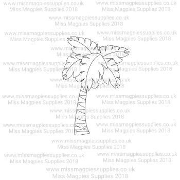 DS099 - MMS DESIGN STAMP - PALM TREE (STYLE 3) - PLEASE SELECT SIZE