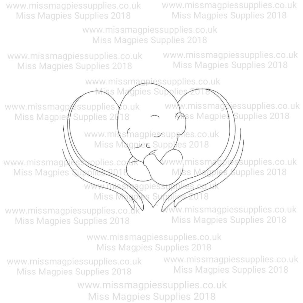 MMS DESIGN STAMP - ANGEL BABY - 5/8