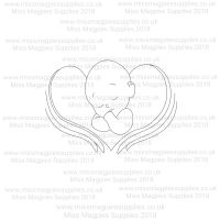 DS002 - MMS DESIGN STAMP - ANGEL BABY - PLEASE SELECT SIZE