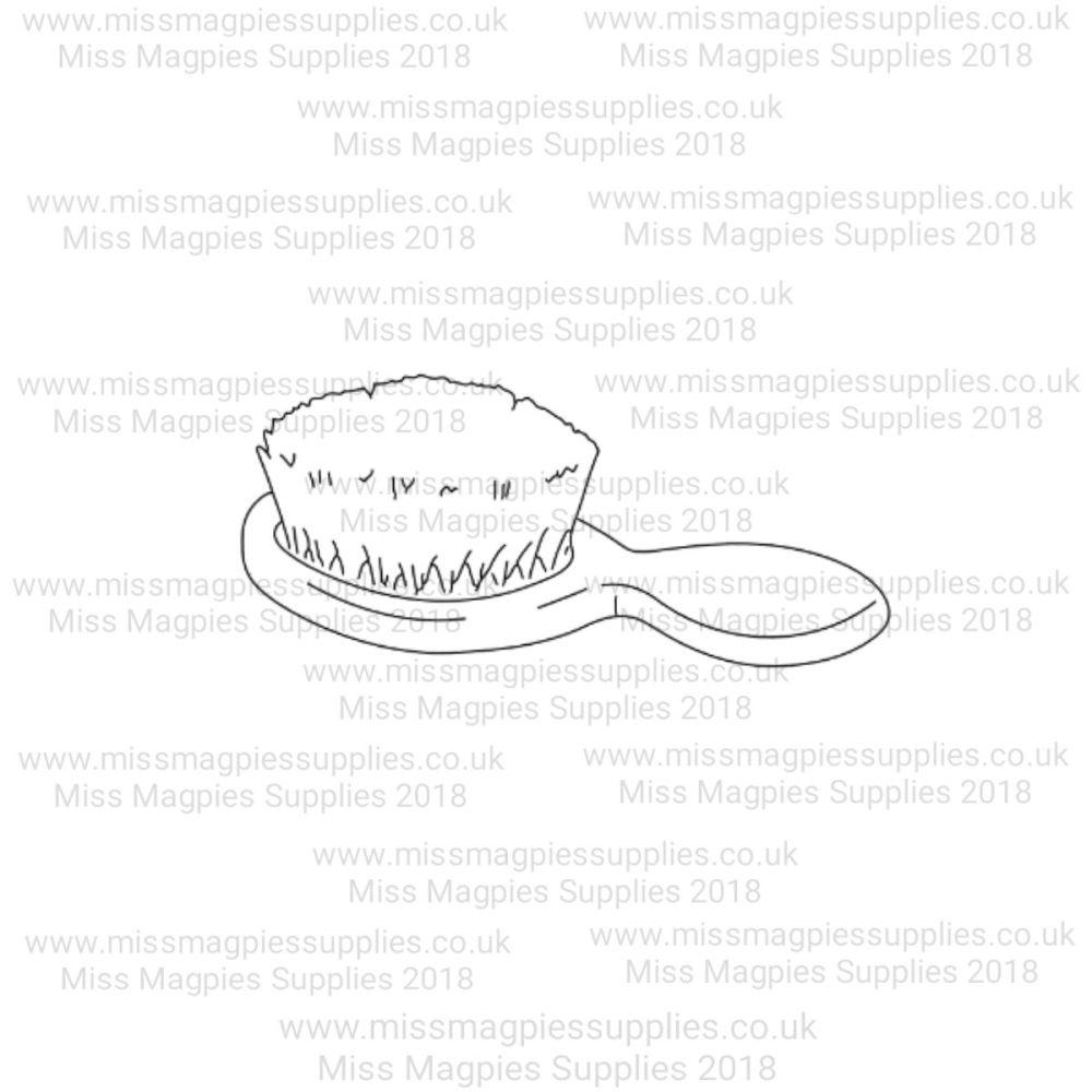 MMS DESIGN STAMP - BABY HAIR BRUSH - 3/8