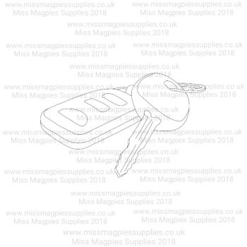 DS009 - MMS DESIGN STAMP - CAR KEYS - PLEASE SELECT SIZE
