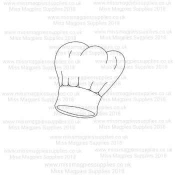 DS013 - MMS DESIGN STAMP - CHEF HAT -  PLEASE SELECT SIZE