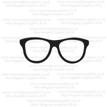 DS086 - MMS DESIGN STAMP - GEEK GLASSES (SOLID)  -  PLEASE SELECT SIZE
