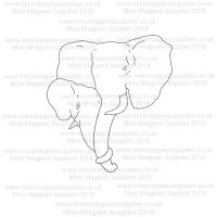 DS020 - MMS DESIGN STAMP - ELEPHANTS - PLEASE SELECT SIZE