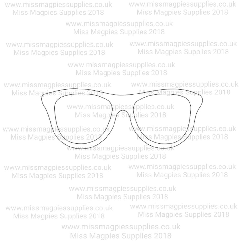 MMS DESIGN STAMP - GEEK GLASSES  - SELECT SIZE