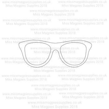 DS023 - MMS DESIGN STAMP - GEEK GLASSES  - PLEASE  SELECT SIZE