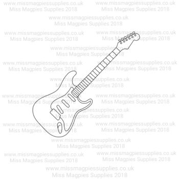 DS026 - MMS DESIGN STAMP - GUITAR - PLEASE SELECT SIZE