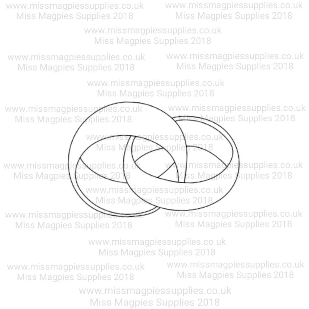 MMS DESIGN STAMP - INTERLOCKED WEDDING RINGS - SELECT SIZE