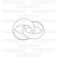 DS030 - MMS DESIGN STAMP - INTERLOCKED WEDDING RINGS - PLEASE SELECT SIZE