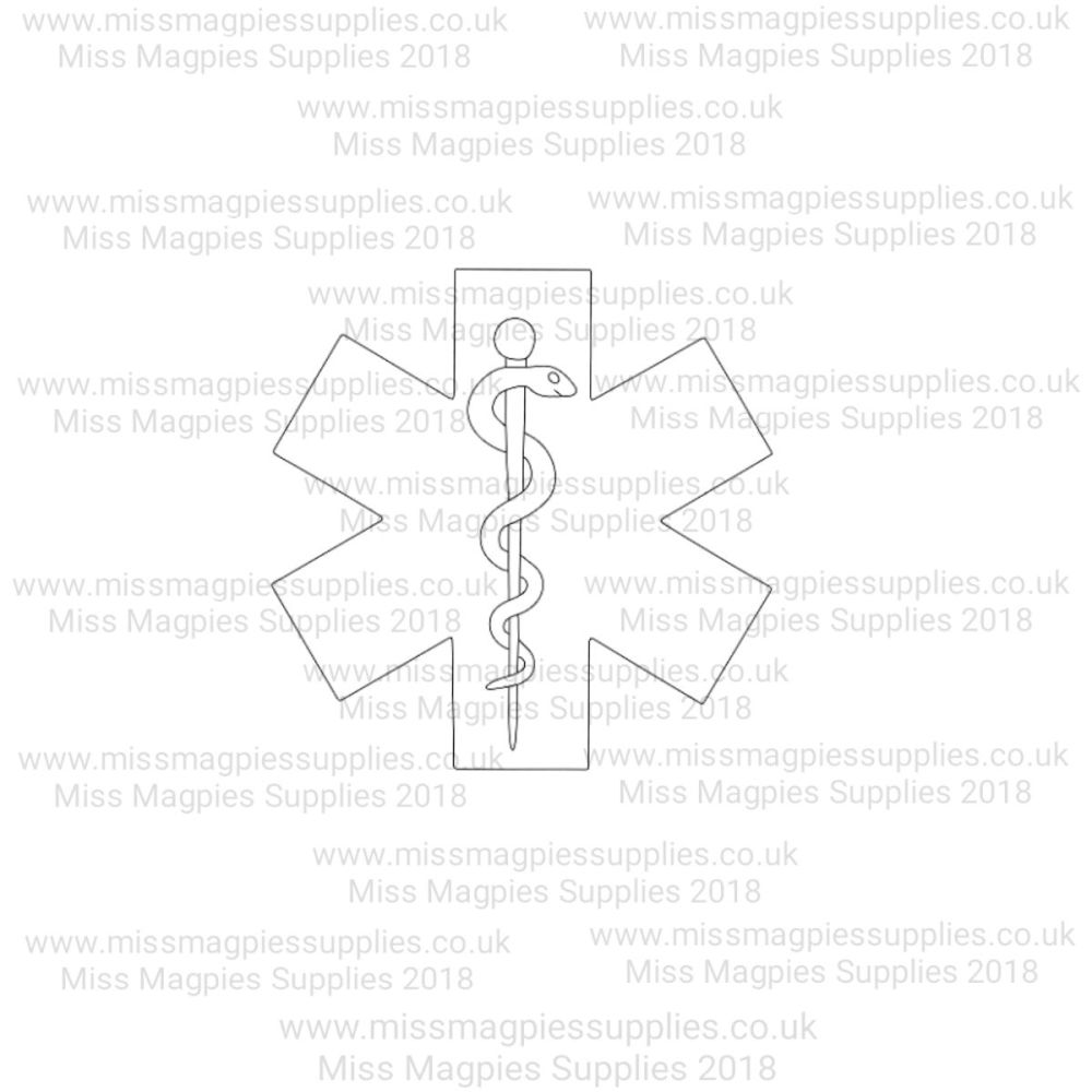 MMS DESIGN STAMP - MEDICAL SYMBOL - SELECT SIZE