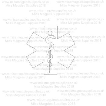 DS032 - MMS DESIGN STAMP - MEDICAL SYMBOL - PLEASE SELECT SIZE
