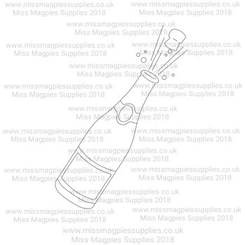 MMS DESIGN STAMP - CHAMPAGNE WITH CORK - PLEASE SELECT SIZE