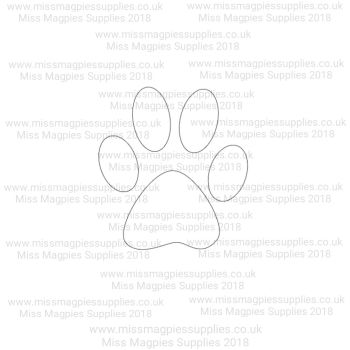 DS036 - MMS DESIGN STAMP - PAW PRINT - PLEASE SELECT SIZE