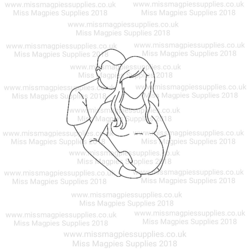 MMS DESIGN STAMP - PREGNANT COUPLE - SELECT SIZE