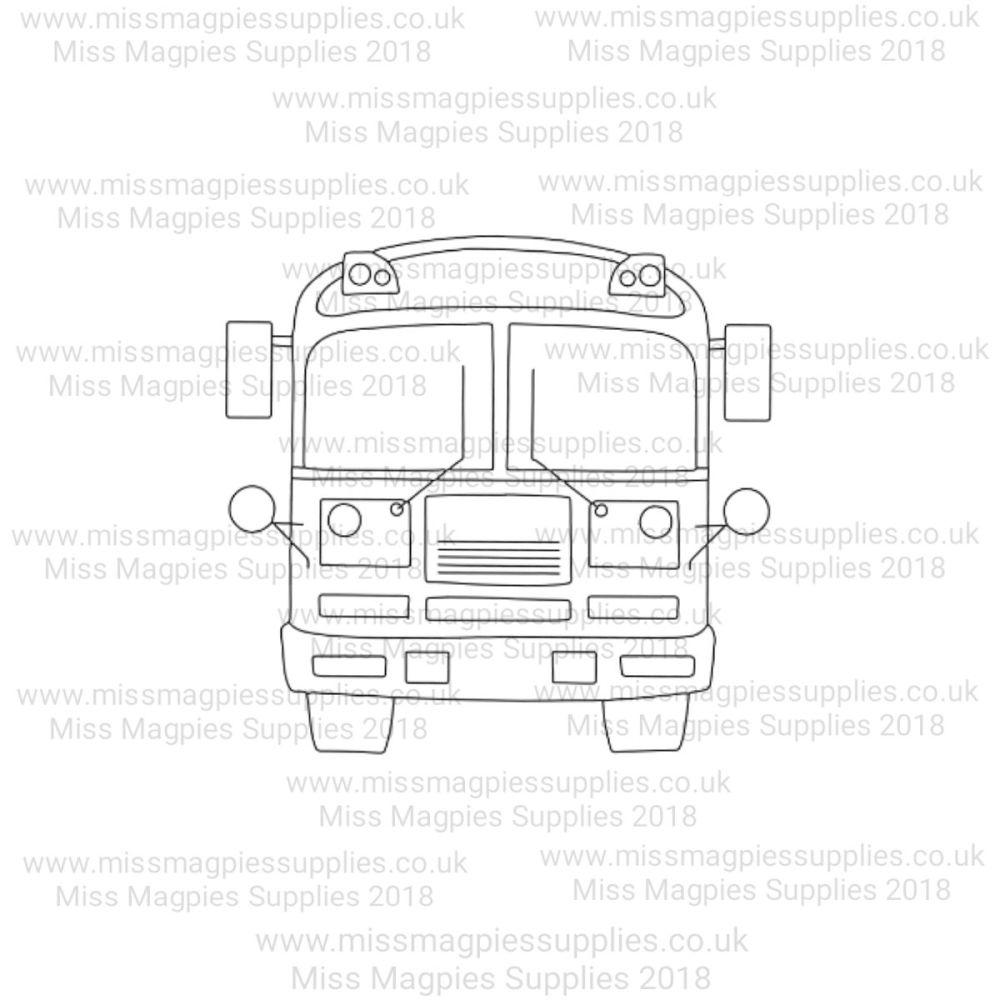 MMS DESIGN STAMP - SCHOOL BUS - 5/8