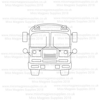DS046 - MMS DESIGN STAMP - SCHOOL BUS - PLEASE SELECT SIZE
