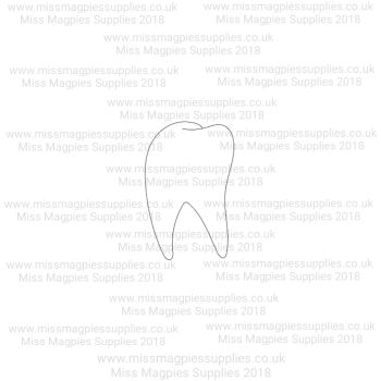 DS062 - MMS DESIGN STAMP - TOOTH - PLEASE SELECT SIZE