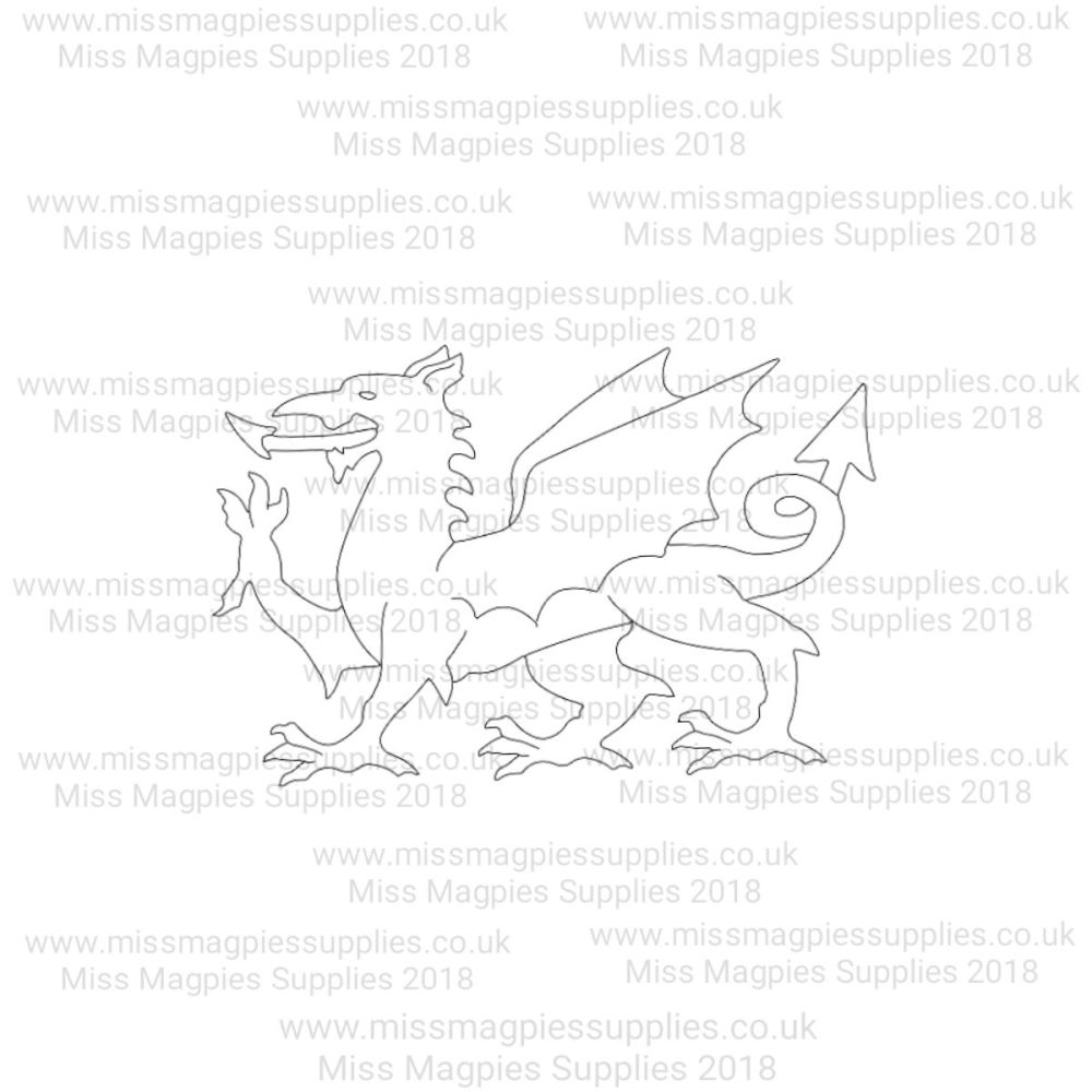 MMS DESIGN STAMP - WELSH DRAGON - SELECT SIZE