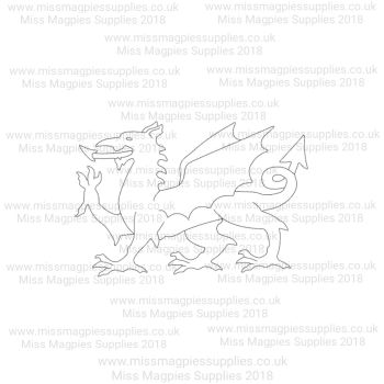 DS065 - MMS DESIGN STAMP - WELSH DRAGON - PLEASE SELECT SIZE
