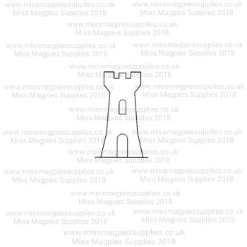 MMS DESIGN STAMP - CASTLE TOWER  -  PLEASE SELECT SIZE