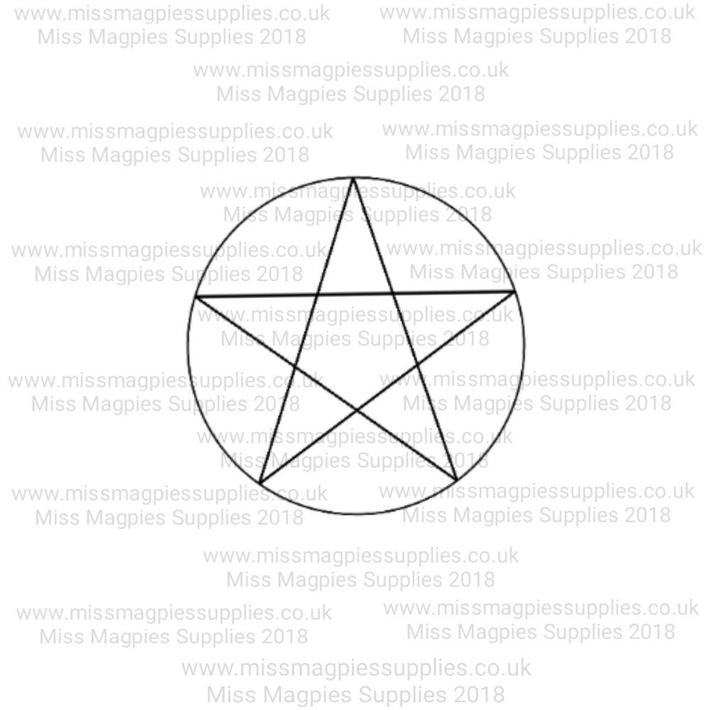MMS DESIGN STAMP - PENTAGRAM - PLEASE SELECT SIZE