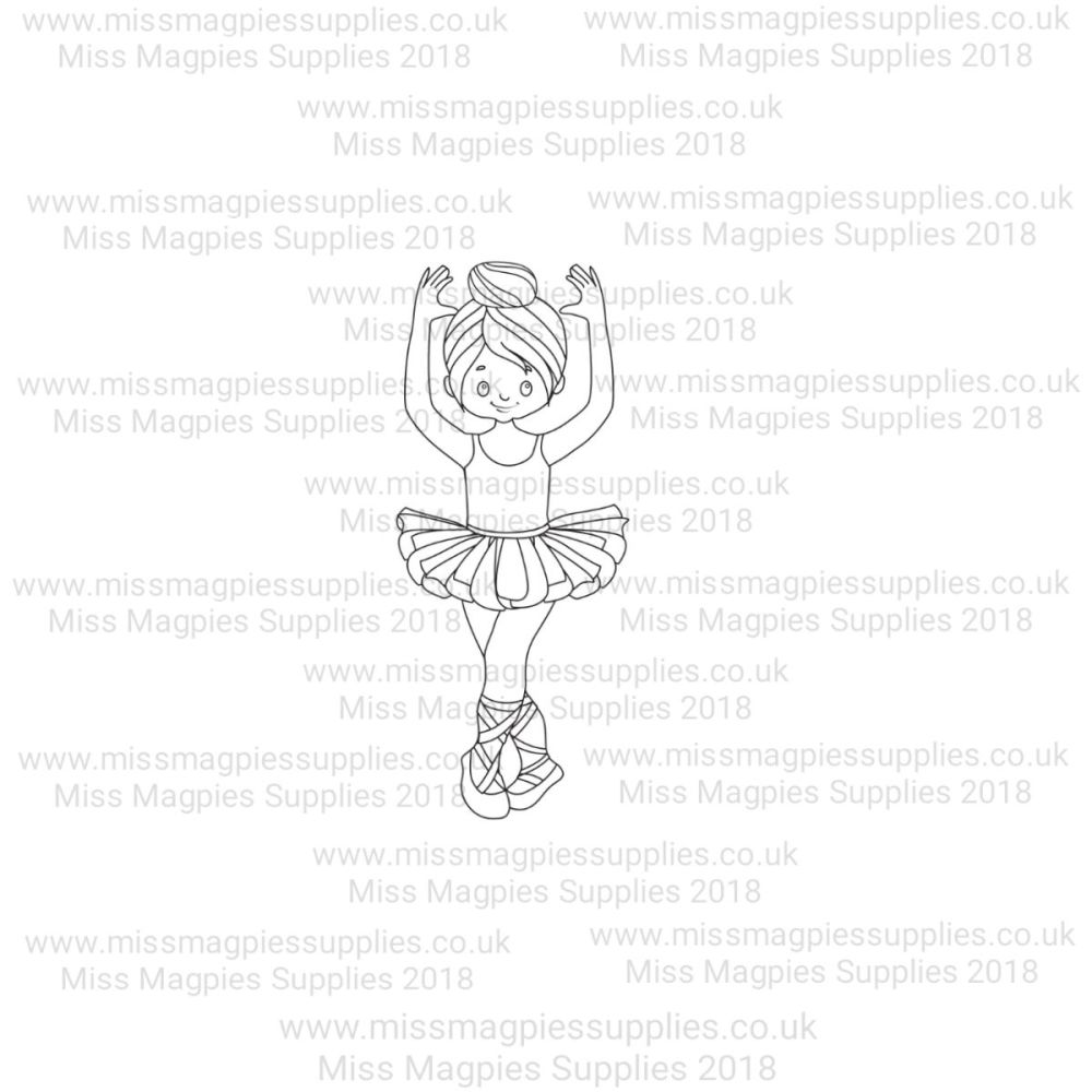 MMS DESIGN STAMP - BALLERINA GIRL (TYPE 4) - PLEASE SELECT SIZE