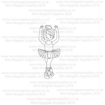 DS078 - MMS DESIGN STAMP - BALLERINA GIRL (TYPE 4) - PLEASE SELECT SIZE