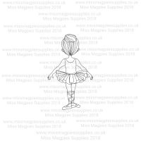 DS079 - MMS DESIGN STAMP - BALLERINA GIRL (TYPE 5) - PLEASE SELECT SIZE