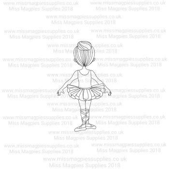 MMS DESIGN STAMP - BALLERINA GIRL (TYPE 5) - PLEASE SELECT SIZE