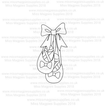 DS080 - MMS DESIGN STAMP - BALLET SHOES (HANGING STYLE) - PLEASE SELECT SIZE
