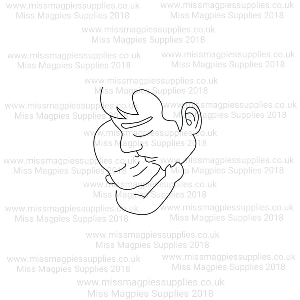 MMS DESIGN STAMP - FATHER AND BABY - PLEASE SELECT SIZE