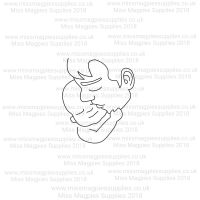 DS085 - MMS DESIGN STAMP - FATHER AND BABY - PLEASE SELECT SIZE