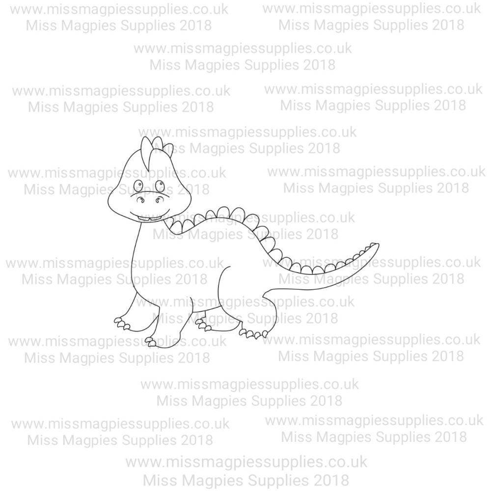 MMS DESIGN STAMP - BABY DIPLODOCUS (WALKING) - PLEASE SELECT SIZE