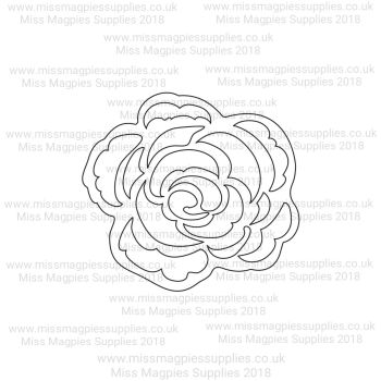 DS107 - MMS DESIGN STAMP - ROSE FLOWER -  PLEASE SELECT SIZE