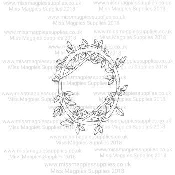 MMS DESIGN STAMP - PLAIN LEAF BORDER (FULL) STYLE 1 - PLEASE SELECT SIZE