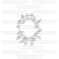 DS102 - MMS DESIGN STAMP - PLAIN LEAF BORDER (FULL) STYLE 2 - PLEASE SELECT SIZE