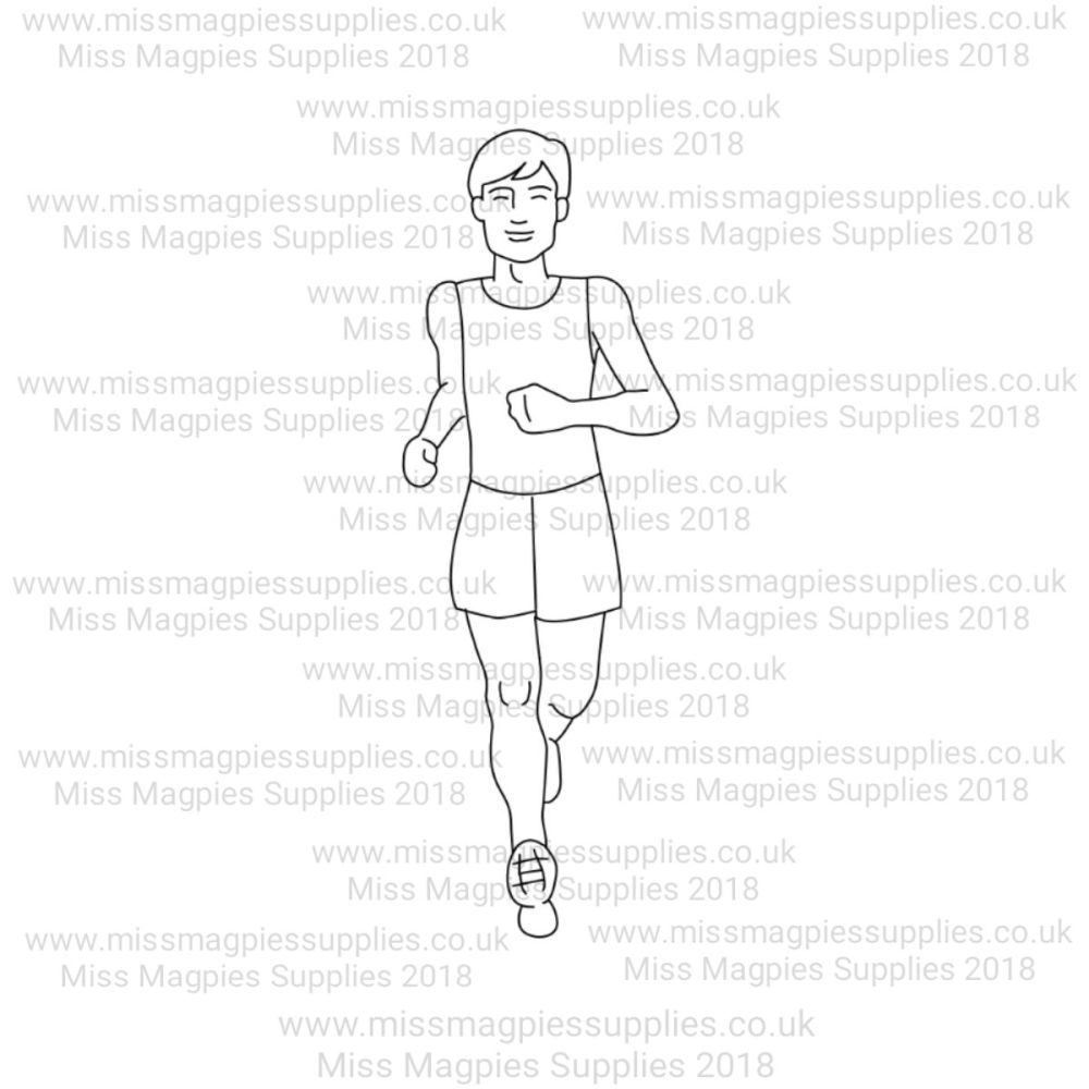 MMS DESIGN STAMP - MALE RUNNER - PLEASE SELECT SIZE