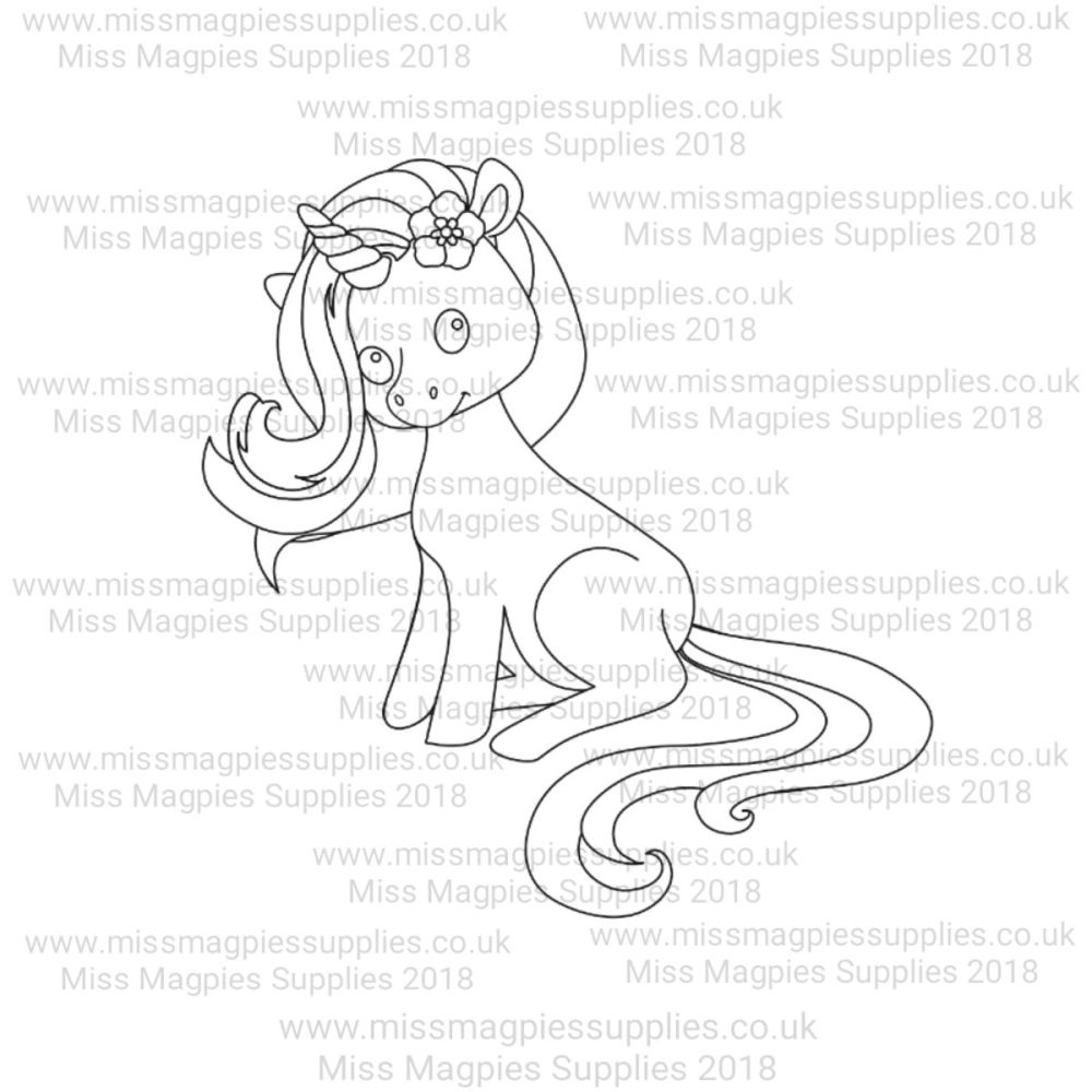 MMS DESIGN STAMP - UNICORN (SITTING STYLE 1) - PLEASE SELECT SIZE