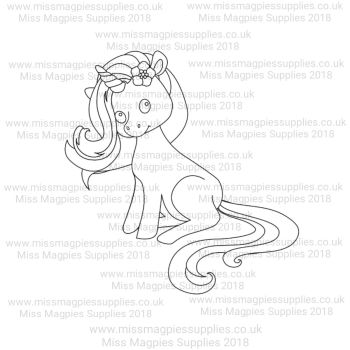 DS118 - MMS DESIGN STAMP - UNICORN (SITTING STYLE 1) - PLEASE SELECT SIZE