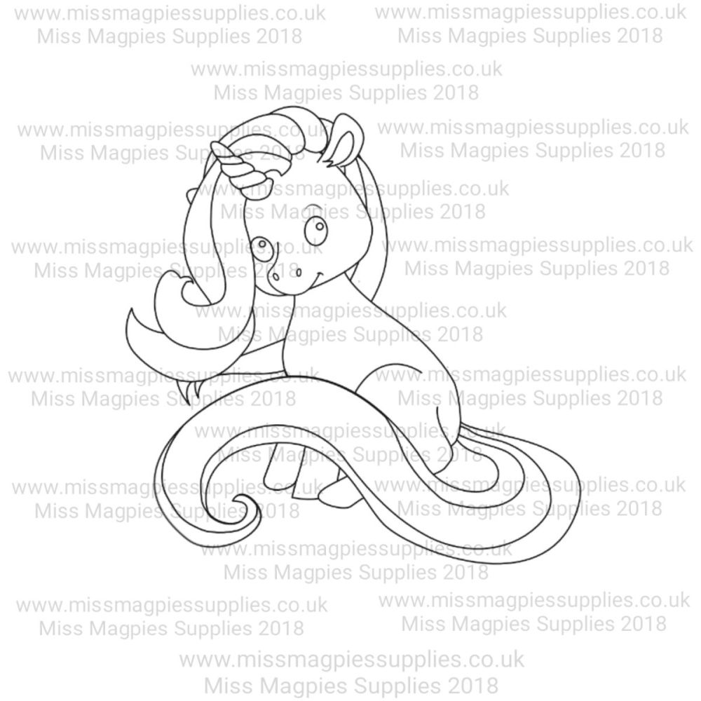MMS DESIGN STAMP - UNICORN (SITTING STYLE 2) - PLEASE SELECT SIZE