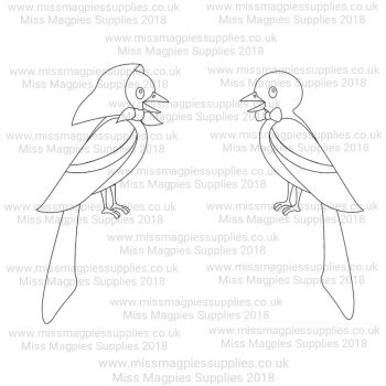 DS089/090 - MMS DESIGN STAMP - MR AND MRS MAGPIE (2 PIECE SET) - PLEASE SELECT SIZE