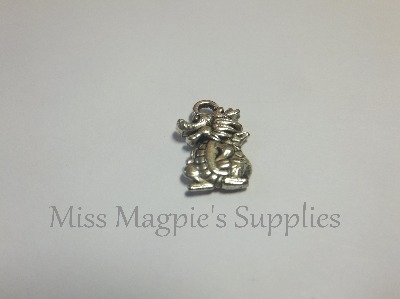 SILVER TONE - LIL DRAGON - PACK OF 5